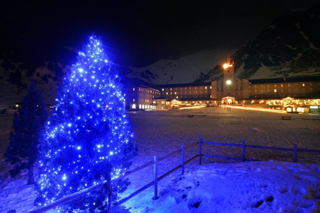 Estació d'esquí de Vall de Núria durant el Nadal. Foto d'arxiu.