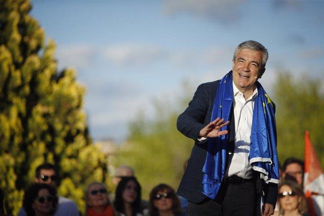 El cap de llista de Cs al Parlament Europeu, Luis Garicano, intervé en el tancament de campanya de Ciutadans