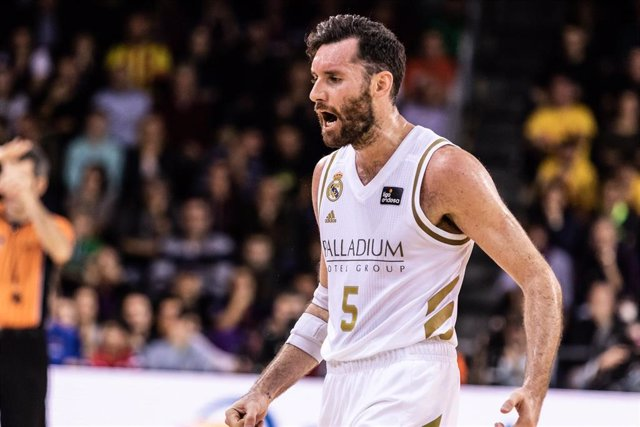 Rudy Fernandez of Real Madrid, during the Liga Endesa match between  FC Barcelona  and Real Madrid at Palau Blaugrana on December 29, 2019 in Barcelona, Spain.