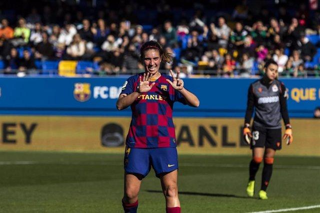 La jugadora del FC Barcelona Mariona Caldentey