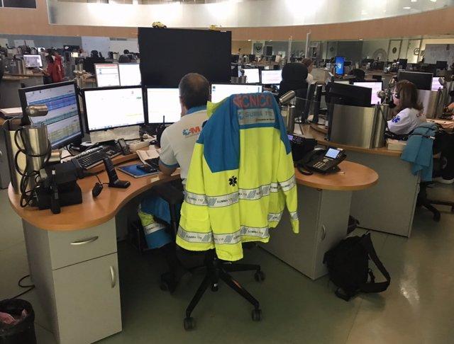 Imagen del centro de gestión de llamadas del 112 Comunidad de Madrid