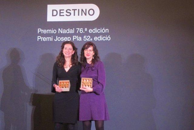 Ana Merino i Laia Aguilar guanyadores del 76 Premi Nadal i del 52 Josep Pla, respectivament