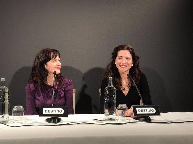 Laia Aguilar (Premi Josep Pla) i Ana Merino (Premi Nadal)
