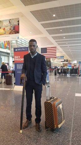 El líder opositor y cantante ugandés, Robert Kyagulanyi, alias 'Bobi Wine'.