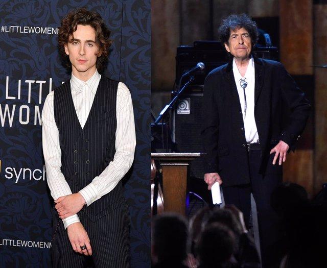 Timothee Chalamet y Bob Dylan