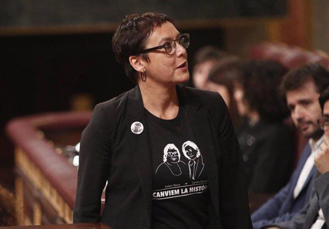 La diputada d'ERC i germana de la presa del procés, Dolors Bassa, Montserrat Bassa.