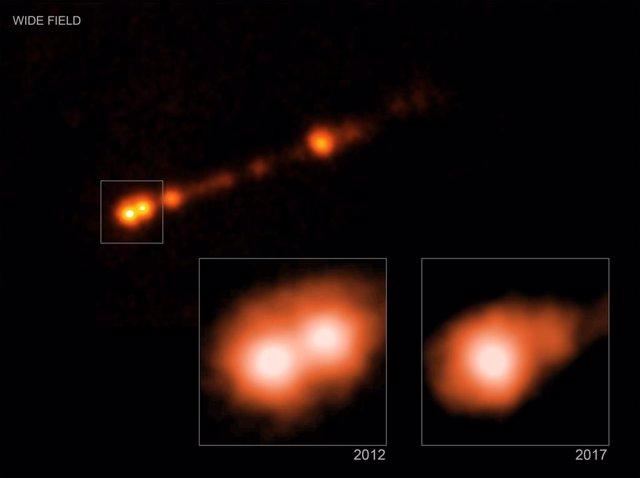 Chorro de partículas del agujero negro de M87