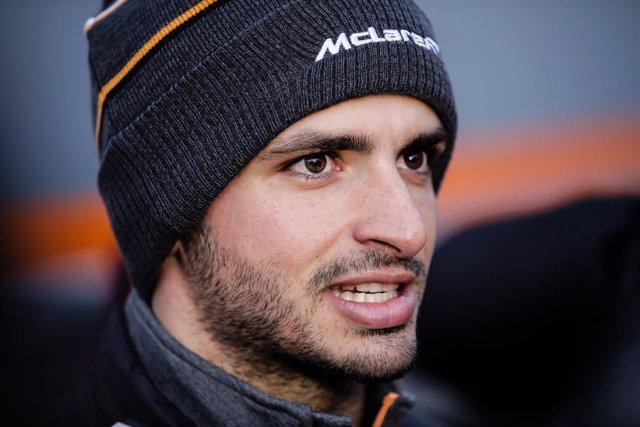 Carlos Sainz Jr. competeix amb McLaren al Circuit de Barcelona - Catalunya, Espanya el febrer del 2018.