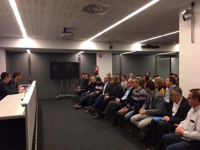 Alcaldes I Regidors d'Ajuntaments de Lleida s'han reunit amb el delegat de la Generalitat, Ramon Farré