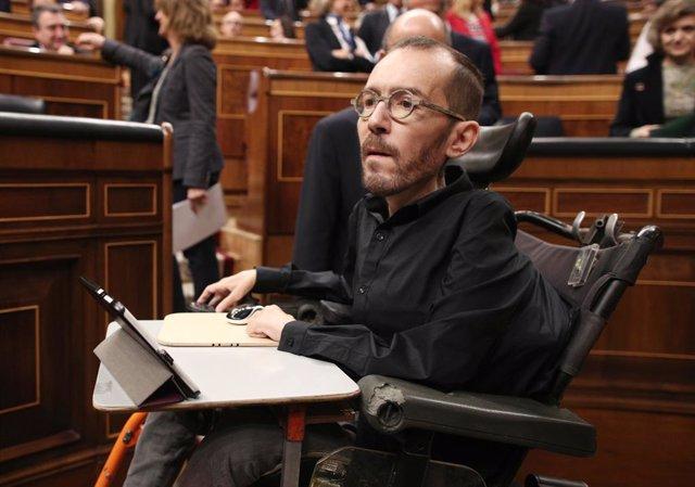 Pablo Echenique (Podemos) será el primer portavoz del Congreso con discapacidad