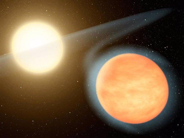 Ilustración del planeta WASP 12b