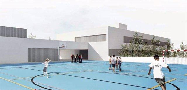 Boceto del nuevo colegio proyectado en Viator (Almería)