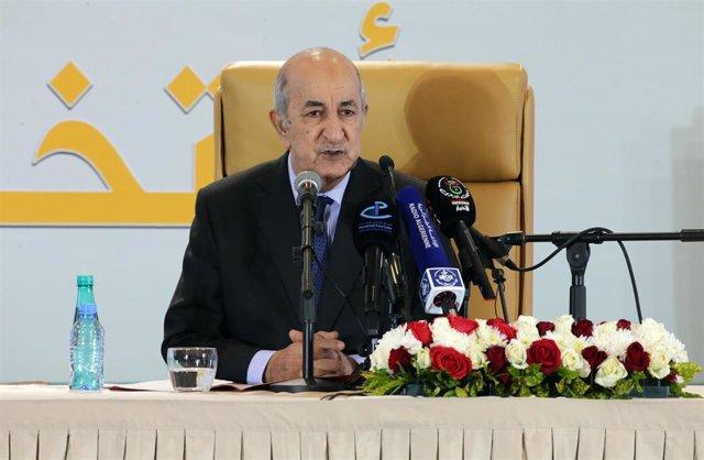 El presidente electo de Argelia, Abdelmayid Tebune