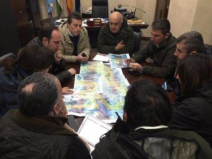 La Junta inicia una primera actuación en el arroyo Santa María de Nerva (Huelva) tras las inundaciones