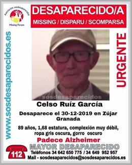 El varón desaparecido en Zújar.