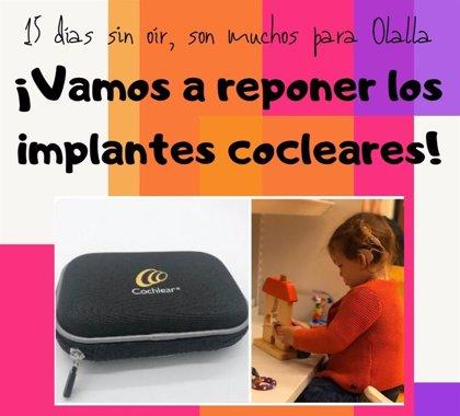 Una campaña solidaria recauda más de 34.000 euros para comprar los implantes cocleares perdidos de una niña de 2 años