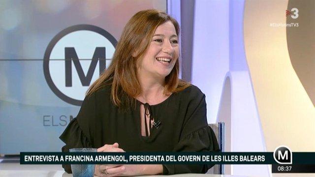 Francina Armengol a TV3