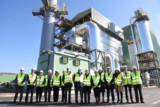 Inauguración de la planta de biomasa de Ence en Puertollano.