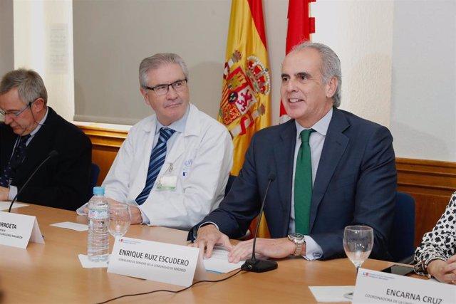 El consejero de Sanidad, Enrique Ruiz Escudero, presenta el balande de la aplicación de las terapias CAR-T en la Comunidad de Madrid.