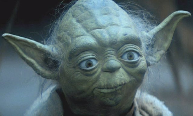 El maestro Yoda en El imperio contraataca