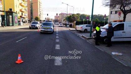 Lesionado grave un varón atropellado en Sevilla al cruzar por un tramo sin paso de cebra