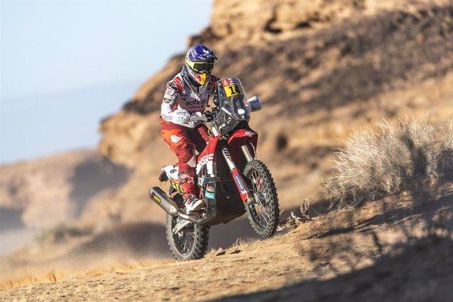 La piloto Laia Sanz (Gas Gas Soficat Xerox) en el Rally Dakar 2020