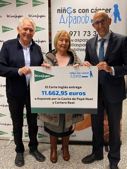 El Corte Inglés entrega a Aspanob 11.600 euros procedentes de donaciones de clientes en Navidad