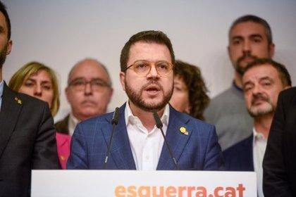 """Aragonès dice que """"más que nunca"""" es necesario el diálogo y pide al PSOE dejar el inmovilismo"""
