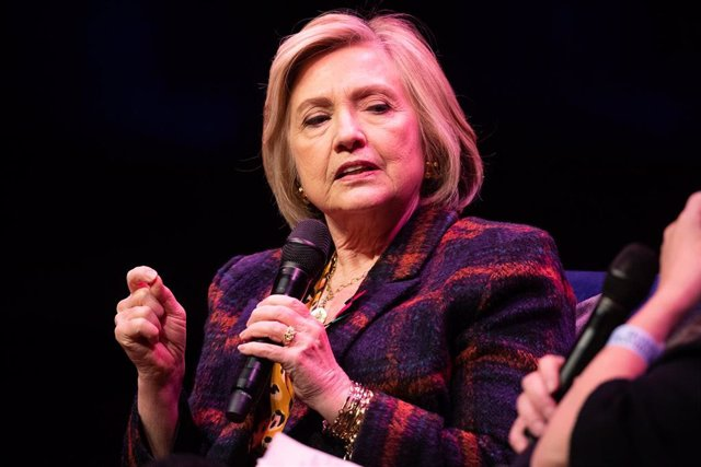 Hillary Clinton, en la presentación de un libro en Londres