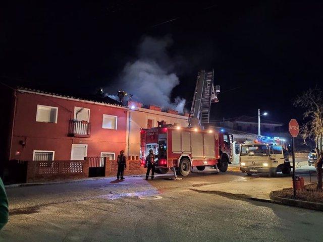 Incendio en una vivienda de Carboneras.