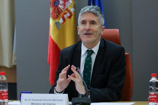 El ministre de l'Interior en funcions, Fernando Grande-Marlaska, en una imatge d'arxiu.