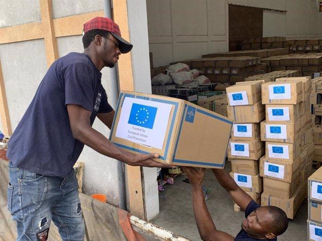 Las tareas logísticas en la respuesta contra el ébola en el noreste de la República Democrática del Congo (RDC)