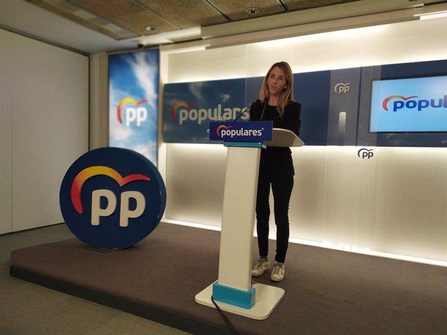 Roda de premsa de la portaveu del PP al Congrés, Cayetana Álvarez de Toledo, a Barcelona, el 10 de gener de 2020.