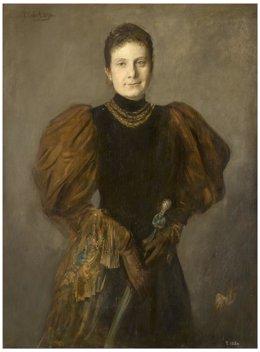 La infanta Paz de Borbón Franz-Seraph von Lenbach 1894. Óleo sobre lienzo.