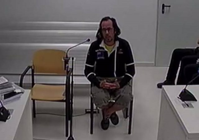 Jordi Ros, un dels CDR detinguts, declara a l'Audiència Nacional.