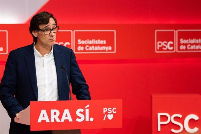 Secretario de Organización y jefe de Campaña del PSC, Salvador Illa