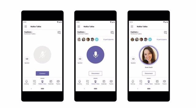 Microsoft desarrolla una nueva función de Walkie Talkie para las empresas que utilicen Microsoft Teams.