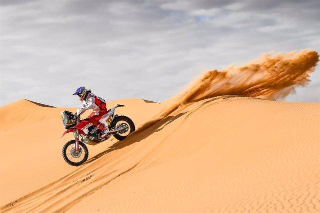 La piloto Laia Sanz (Gas Gas Soficat Xerox) en la sexta etapa del Rally Dakar 2020