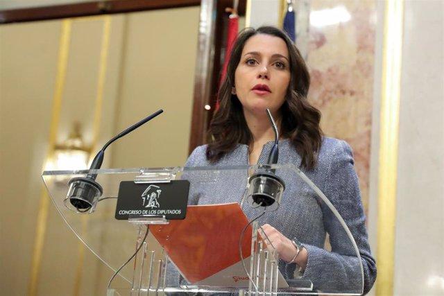 La portavoz de Ciudadanos en el Congreso, Inés Arrimadas, en una imagen de archivo