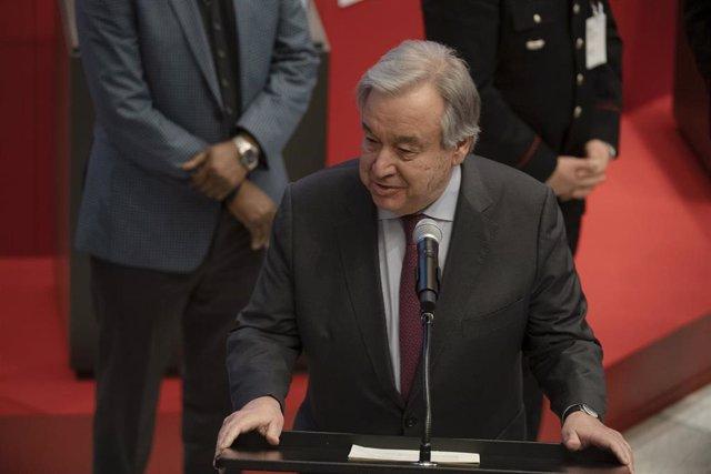 Imagen del secretario general de la ONU, António Guterres.