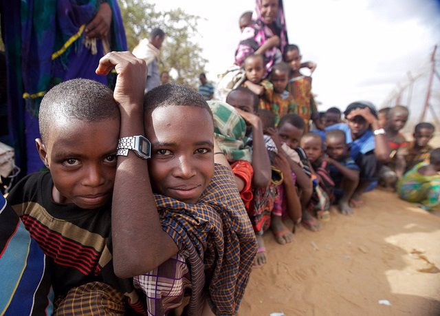 Imagen de refugiados somalíes en Dadaab (Kenia).