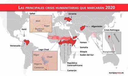 Las 15 principales crisis humanitarias que marcarán 2020