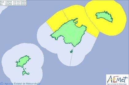 Mallorca y Menorca están este sábado en alerta amarilla por fenómenos costeros