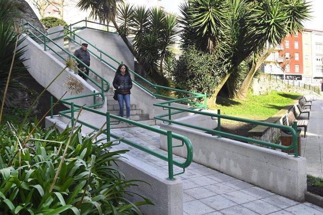 Finalizadas las obras de las escaleras del parque Recaredo