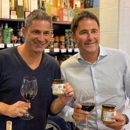 Fran Senra con Ferran Salvatella, fundador de Casa Bona Pizzas