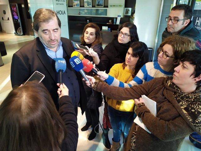 El presidente de la Gestora de Ciudadanos, Manuel García Bofill, en Gijón