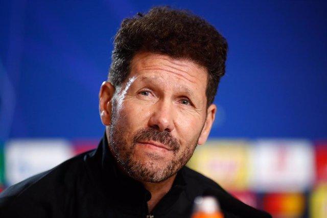 El entrenador del Atlético, Diego Pablo Simeone