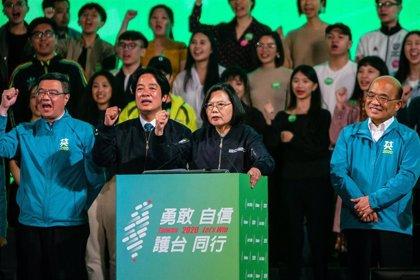 Los primeros resultados electorales conceden una amplia ventaja a la actual presidenta de Taiwán