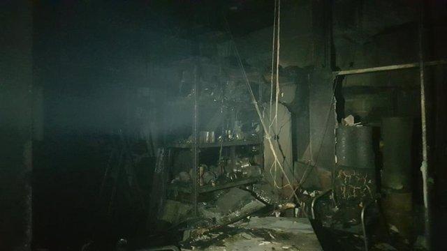 Incendio en el balneario de trillo
