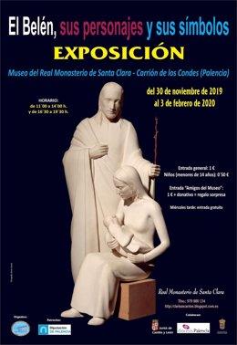 Cartel de la exposición de belenes en el Monasterio de Santa Clara de Carrión de los Condes (Palencia)